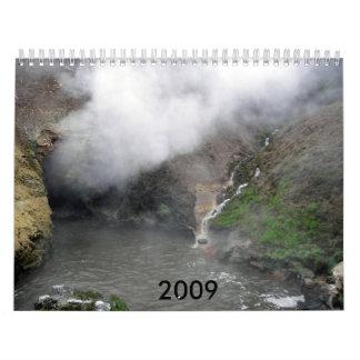 Fuego e hielo calendarios de pared