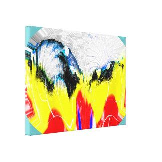 Fuego e hielo de fusión impresión en lienzo