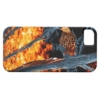 Fuego e hielo Shinned sostenido del halcón. (0112) Funda Para iPhone 5 Barely There