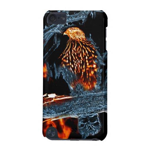 Fuego e hielo Shinned sostenido del halcón. (0112) Funda Para iPod Touch 5G