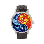 Fuego e hielo Yin-Yang Reloj