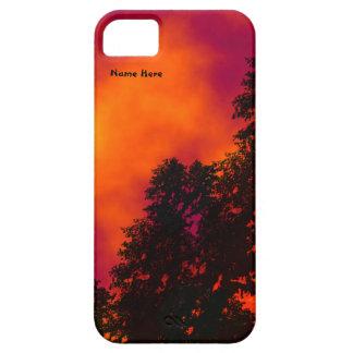 Fuego en el caso personal del iPhone 5 del cielo Funda Para iPhone SE/5/5s