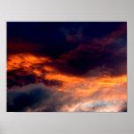 Fuego en el cielo impresiones