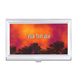 Fuego en el cielo personalizado caja de tarjetas de negocios