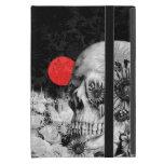 Fuego en el cráneo oscuro, floral de la noche iPad mini fundas