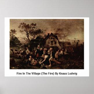 Fuego en el pueblo (el fuego) por Knaus Luis Impresiones