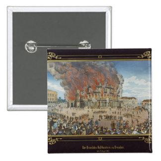Fuego en el teatro real en Dresden Pin