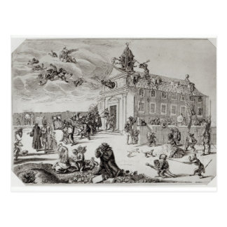 Fuego en el templo de Charenton, c.1685 Postales