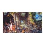 Fuego, en enero Brueghel la anciano Impresión En Lona Estirada