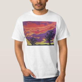 Fuego en la camiseta del descuento del cielo playeras