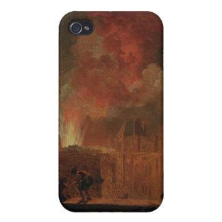 Fuego en la ópera del Palais Royal iPhone 4/4S Fundas
