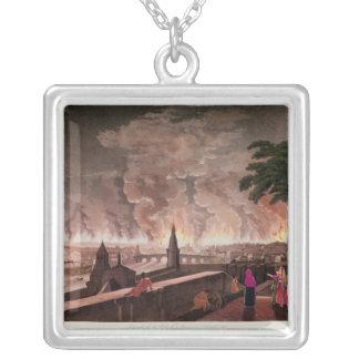 Fuego en Moscú, septiembre de 1812. grabado cerca Joyeria