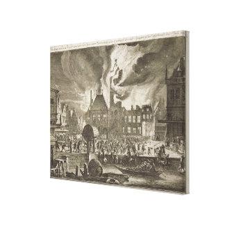 Fuego en viejo ayuntamiento, el 17 de julio 165 Am Impresiones En Lona