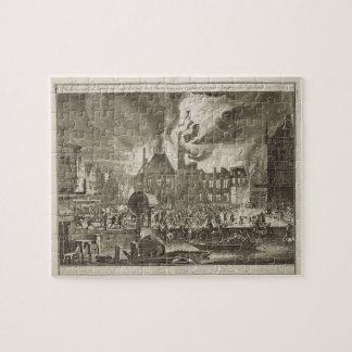 Fuego en viejo ayuntamiento, el 17 de julio 165 Am Rompecabeza