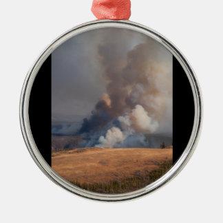 Fuego en Yellowstone Adorno De Navidad