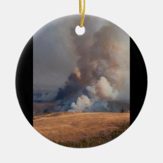 Fuego en Yellowstone Ornamente De Reyes