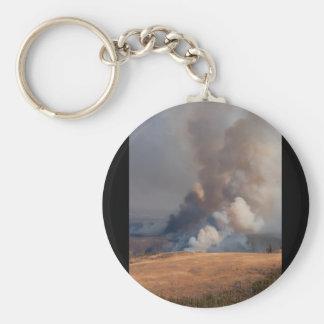 Fuego en Yellowstone Llavero