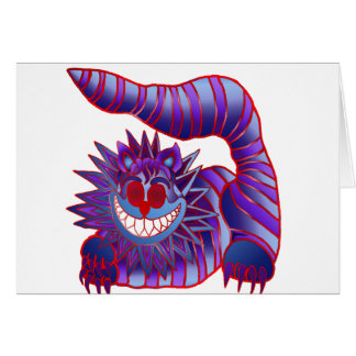 Fuego enojado del gato de Cheshire Tarjeta De Felicitación