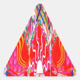Fuego espiritual: Vida acertada de los demonios Pegatina Triangular