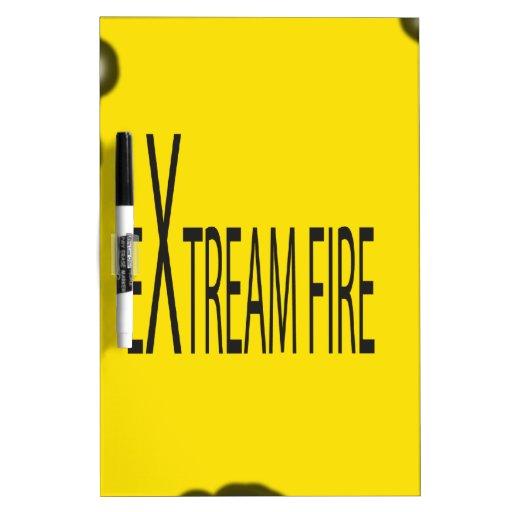 Fuego extremo pizarras blancas de calidad