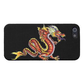 Fuego fresco tat J de la criatura de la fantasía d iPhone 5 Carcasa