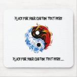Fuego fresco Yin Yang del agua del símbolo del Alfombrillas De Raton