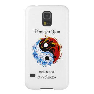 Fuego fresco Yin Yang del agua del símbolo del Fundas De Galaxy S5