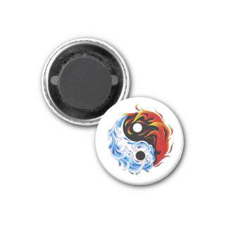 Fuego fresco Yin Yang del agua del símbolo del tat Imán Redondo 3 Cm