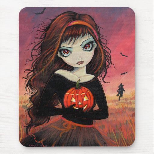 Fuego Halloween Mousepad del otoño