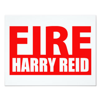 """Fuego Harry Reid Invitación 4.25"""" X 5.5"""""""