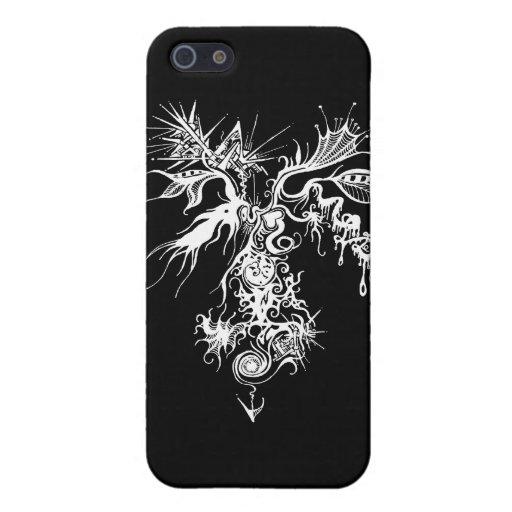 Fuego-Hielo Oraganometallic iPhone 5 Fundas
