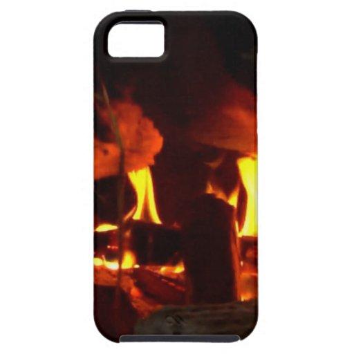 FUEGO: Hogar de la chimenea iPhone 5 Fundas