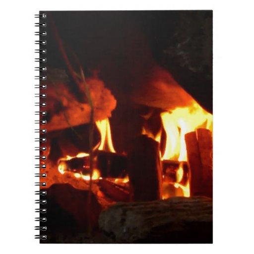 FUEGO: Hogar de la chimenea Libro De Apuntes