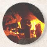 FUEGO: Hogar de la chimenea Posavasos Cerveza