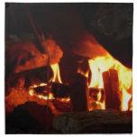 FUEGO: Hogar de la chimenea Servilletas