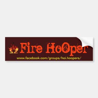 Fuego Hooper Pegatina Para Auto