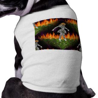 fuego inconsútil y Candycorn de 3D Biomechannequin Camisetas De Perrito
