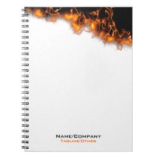 ¡Fuego Libro De Apuntes Con Espiral
