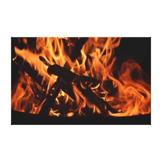 Fuego Lienzo Envuelto Para Galerías