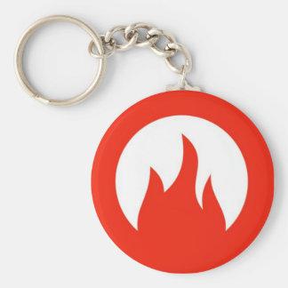 fuego llavero redondo tipo pin