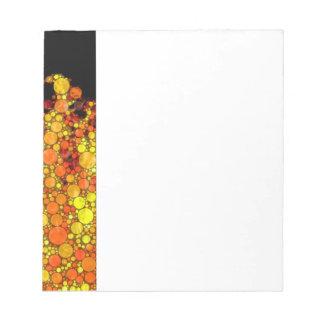 Fuego moderno - impresión abstracta de la llama blocs de papel