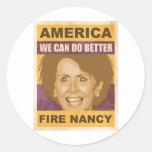 Fuego Nancy Pelosi Etiqueta Redonda