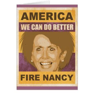 Fuego Nancy Pelosi Tarjeta De Felicitación