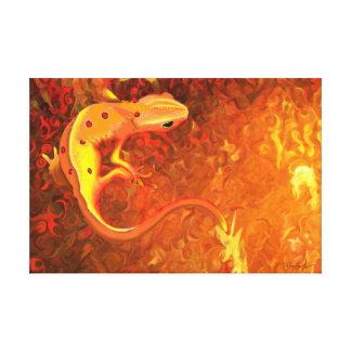 Fuego (Newt manchado rojo) Impresión En Lienzo