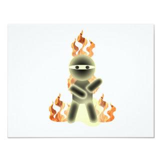 """Fuego Ninja (por el kolohe Nick del lil) Invitación 4.25"""" X 5.5"""""""