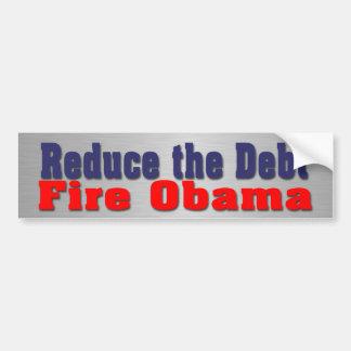 Fuego Obama Pegatina Para Auto