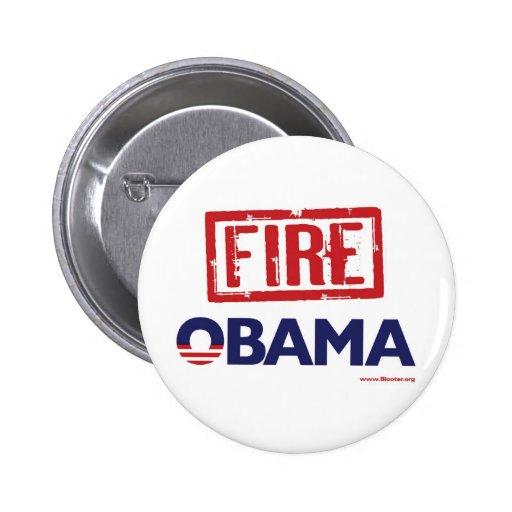 Fuego Obama Pin Redondo De 2 Pulgadas