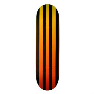 Fuego Orange & Black Stripe Skateboard Deck