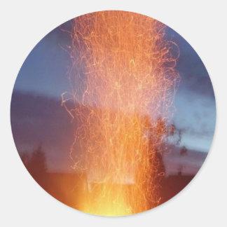 Fuego Pegatinas Redondas