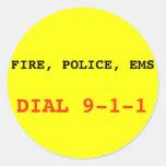 Fuego, pegatina de la policía el ccsme 911